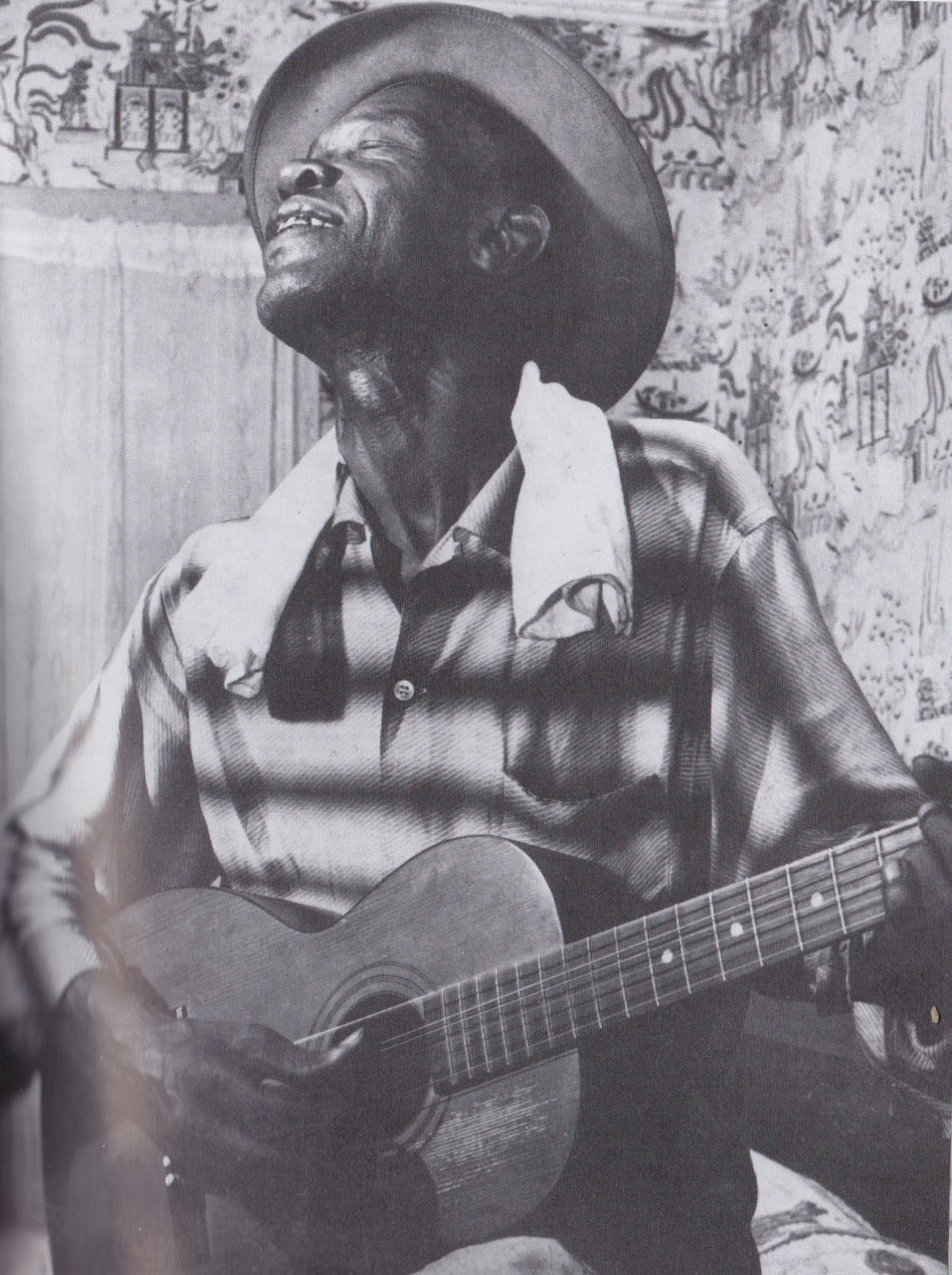 Lightnin Hopkins Black Cat Blues Tab