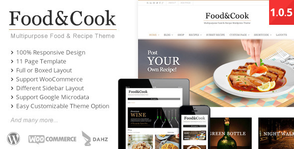 Multipurpose Food Recipe WP Theme