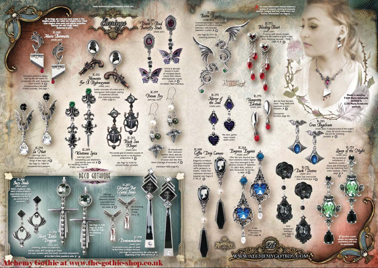 Alchemy Gothic Earrings At The