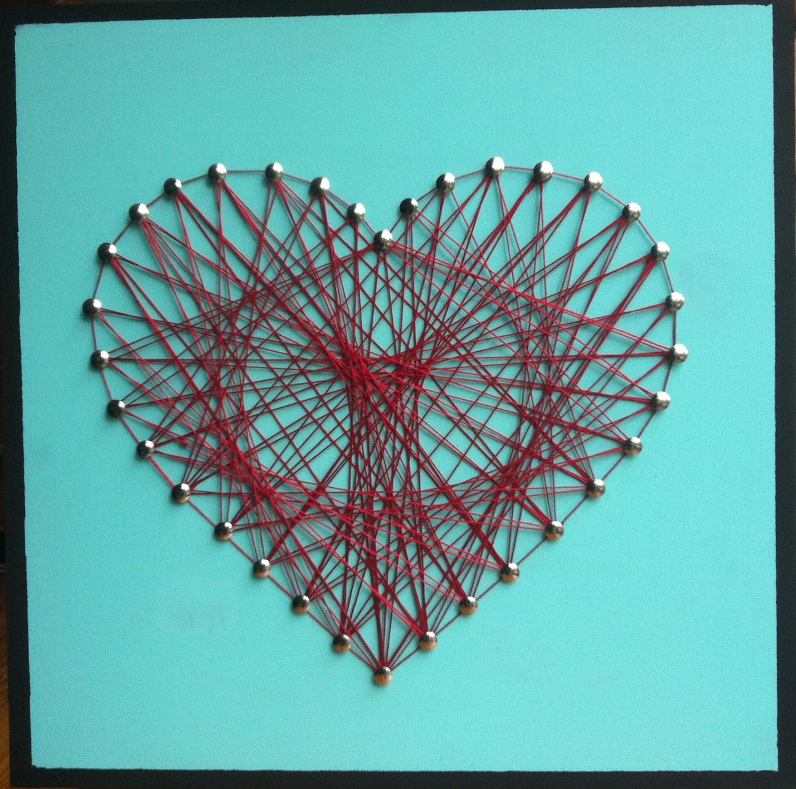 String Art Heart Pattern