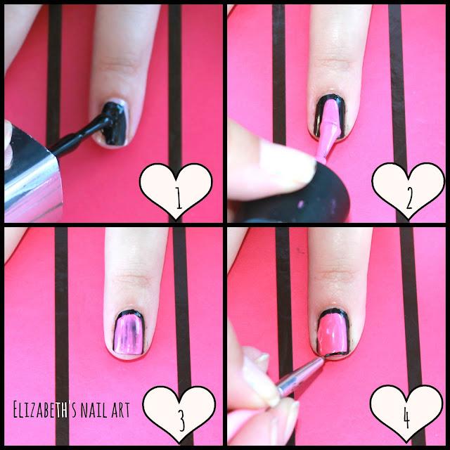 otra manera de hacer la tecnica de uñas enmarcadas