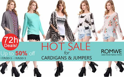 hot sale cardigan e maglioni su romwe