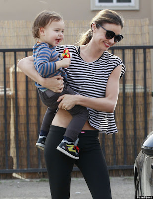 Model Miranda Kerr and son Flynn hd photos