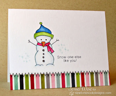 Frozen Friends snowman card by Tessa Wise for Newton's Nook Designs