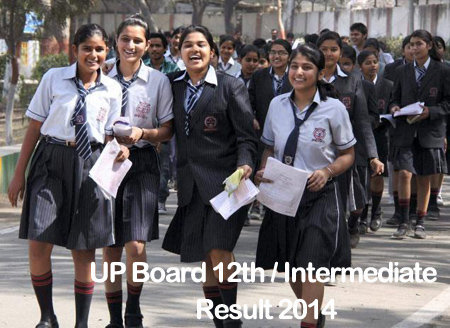 UP Board 12th Class Result / Intermediate Class XII Results 2014