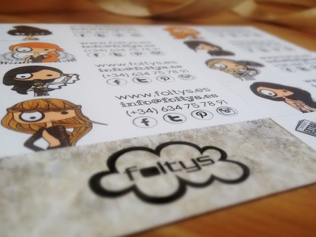 folltys vs the minicards (diseño tarjetas de visita | business card design)