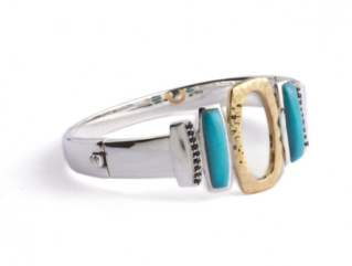 Turquoise and Topaz Bangle