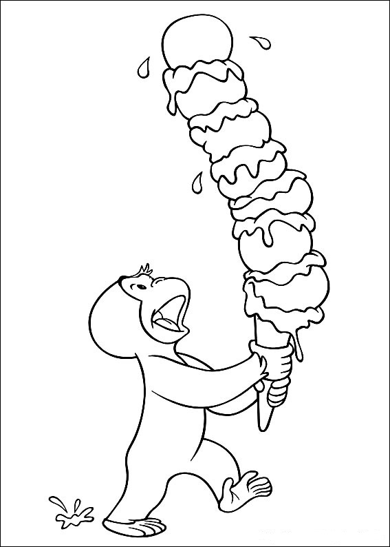 coloring pages of curious george - photo#1