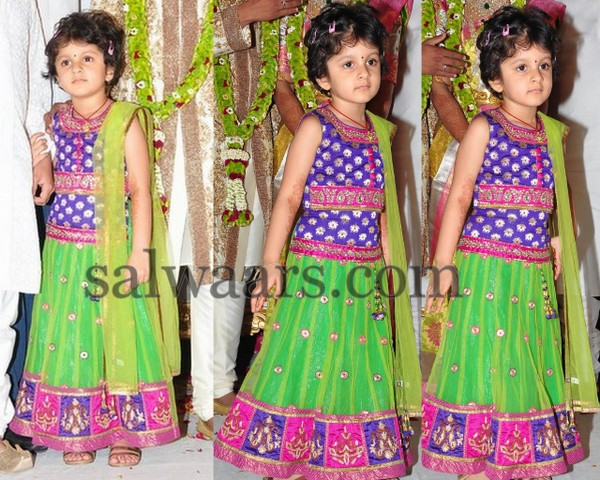 Mahesh Babu Daughter in Lehenga
