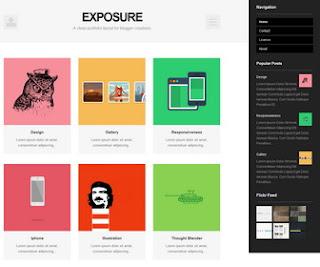 Exposure – Simple Portfolio Premium Blogger Template | Free Template ...