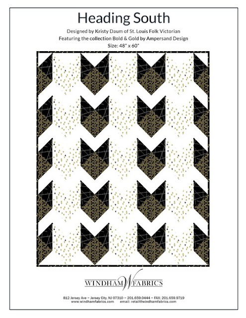 Heading South Quilt Pattern // Kristy Daum of St. Louis Folk Victorian