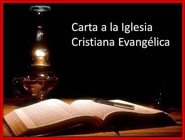 Carta a la Iglesia Cristiana Evangélica