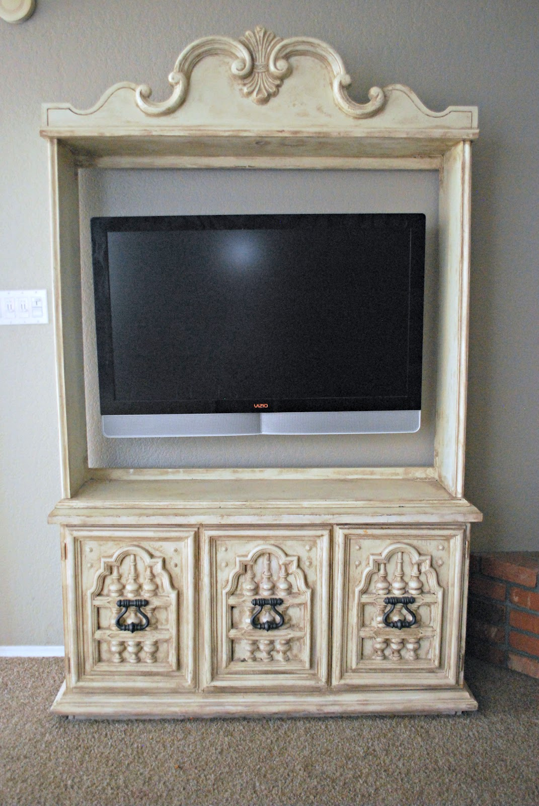 into center clutter tv afters classy entertainment with turned hutch doors