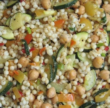 Israeli couscous and chickpea salad recipe