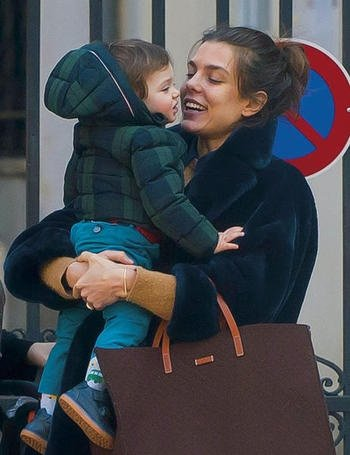 Photo of Charlotte Casiraghi & her Son  Raphaël Casiraghi