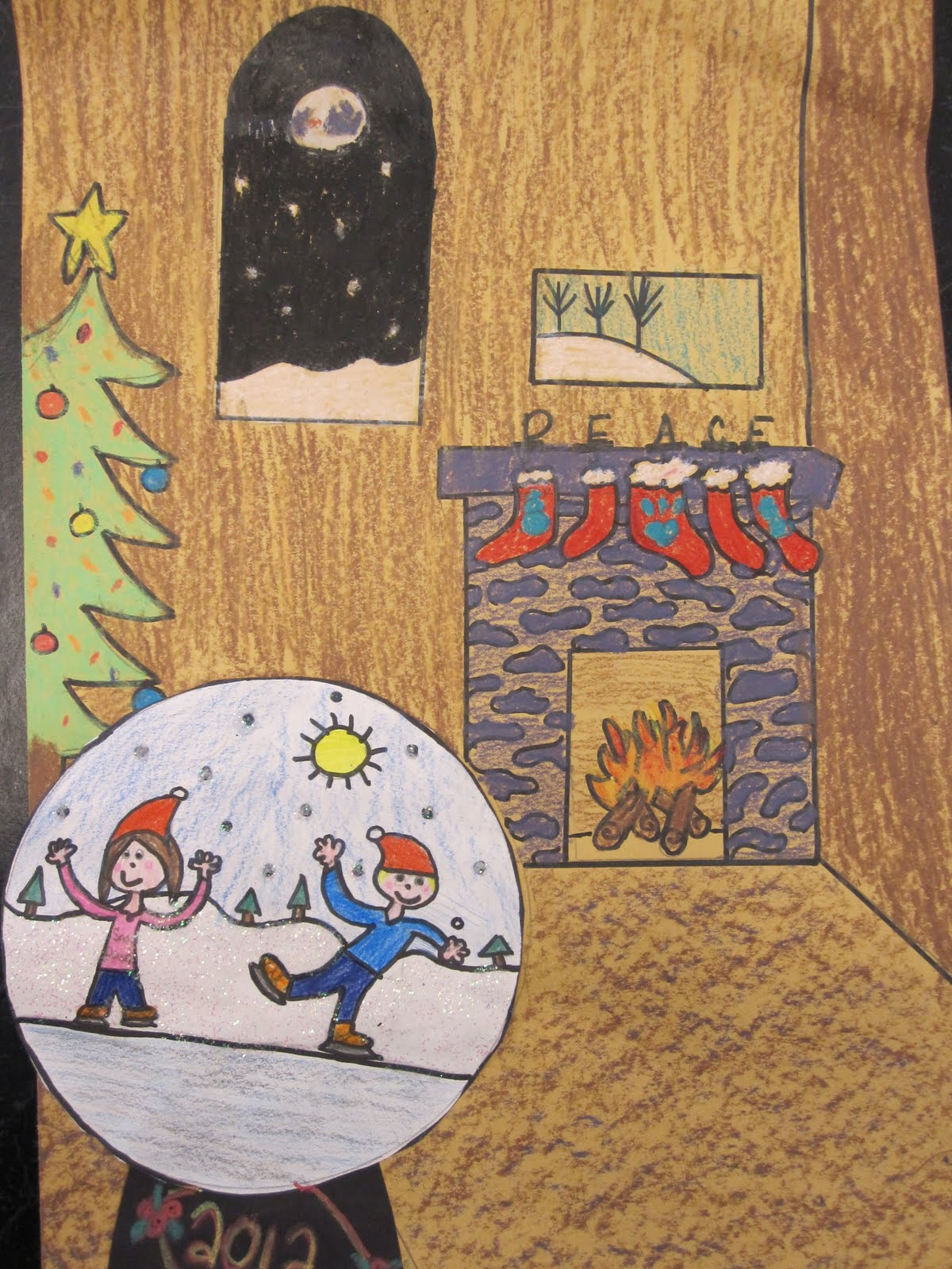 Holiday art projects for middle school christmas art for Arts and crafts lesson plans for middle school