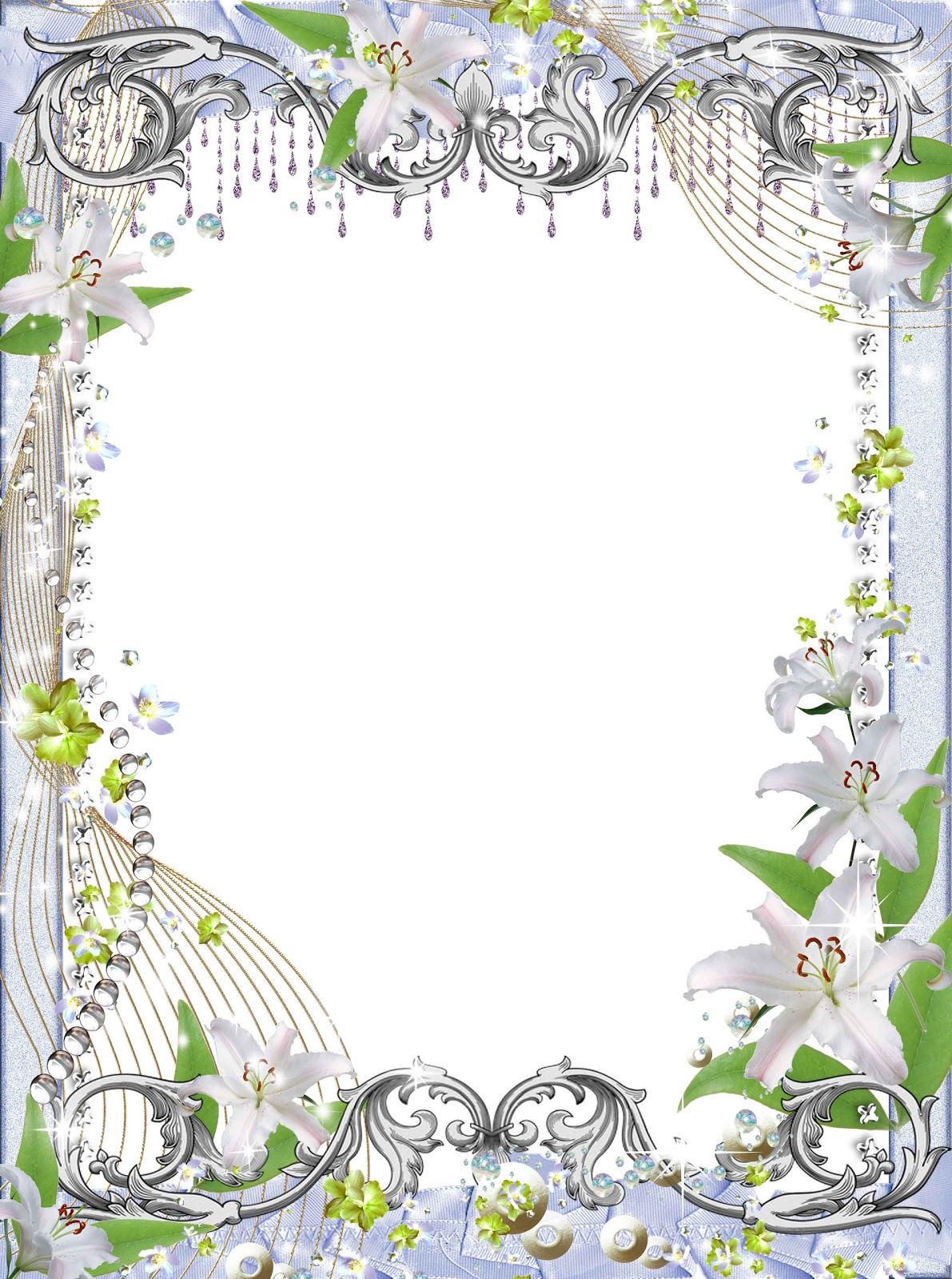 flowers png frame  flowers frame