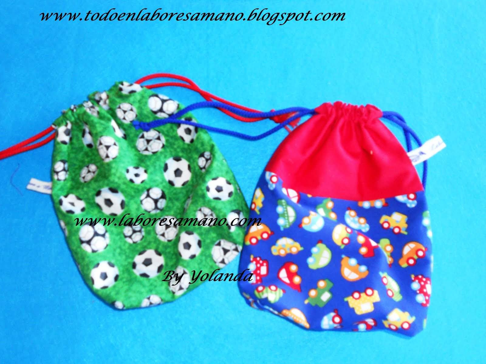 Bolsitas reversibles para bebés y niños especiales para guardería