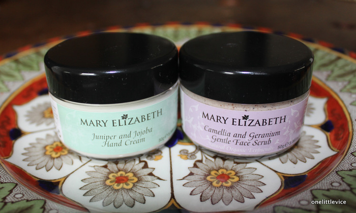 one little vice beauty blog: natural award winning skincare brand Mary Elizabeth product reviews
