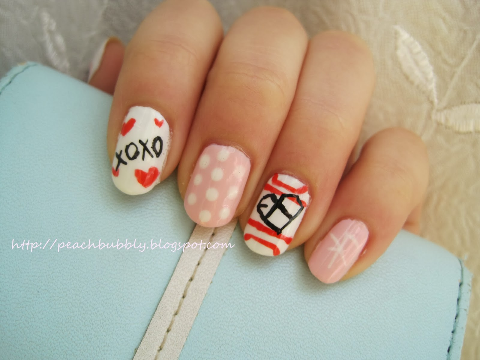 peachbubbly: Kpop Nails: EXO Inspired Valentine\'s Day Nail Art