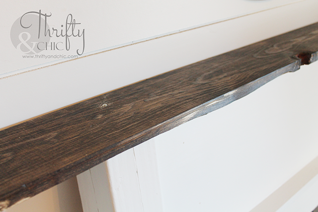DIY faux fireplace surround and mantel. Made for under $50, would be perfect with stockins for the holidays!