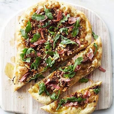 ... Caramelized Onion, Hot Italian Sausage, Prosciutto, and Arugula Pizza
