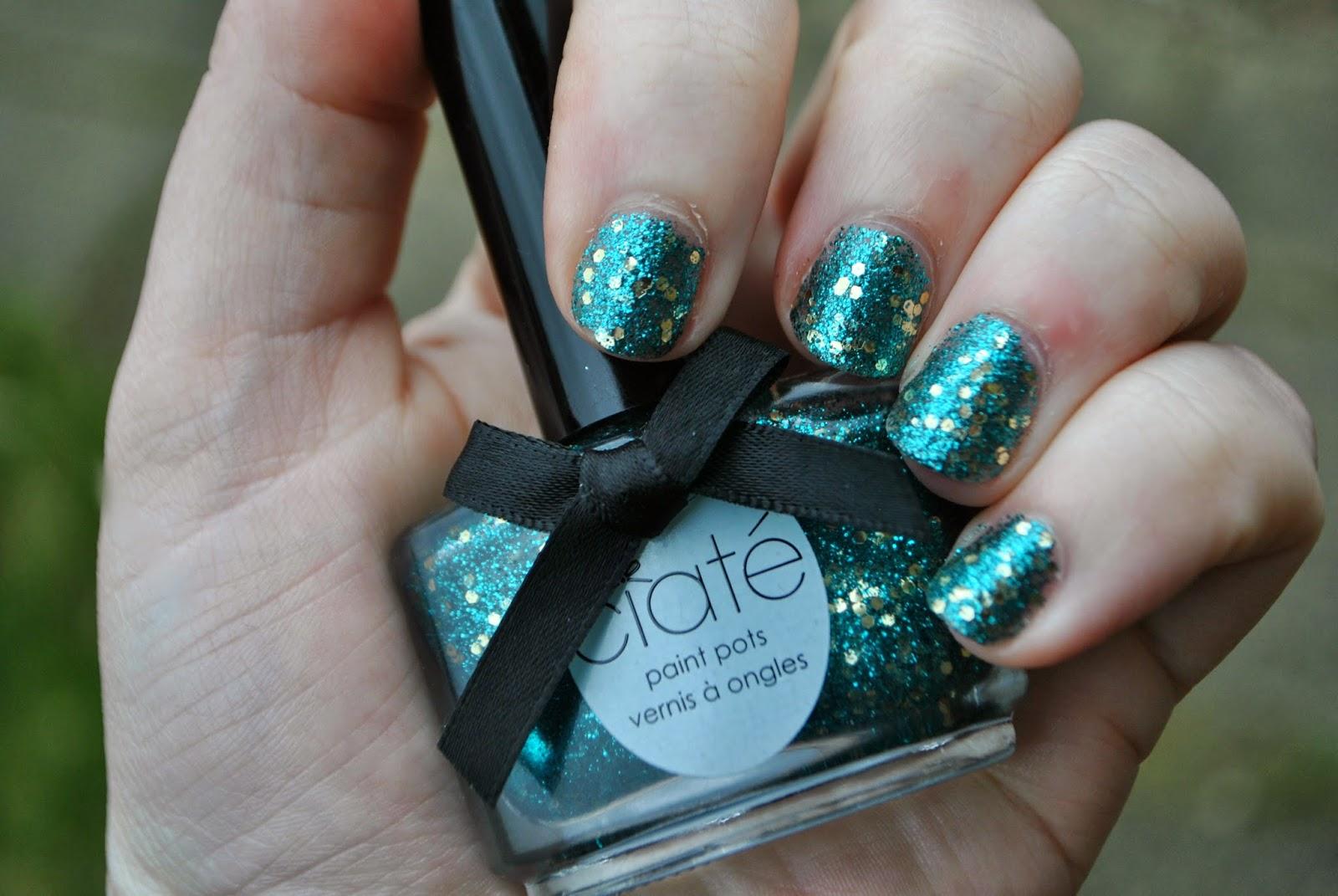 really glittery nail polish