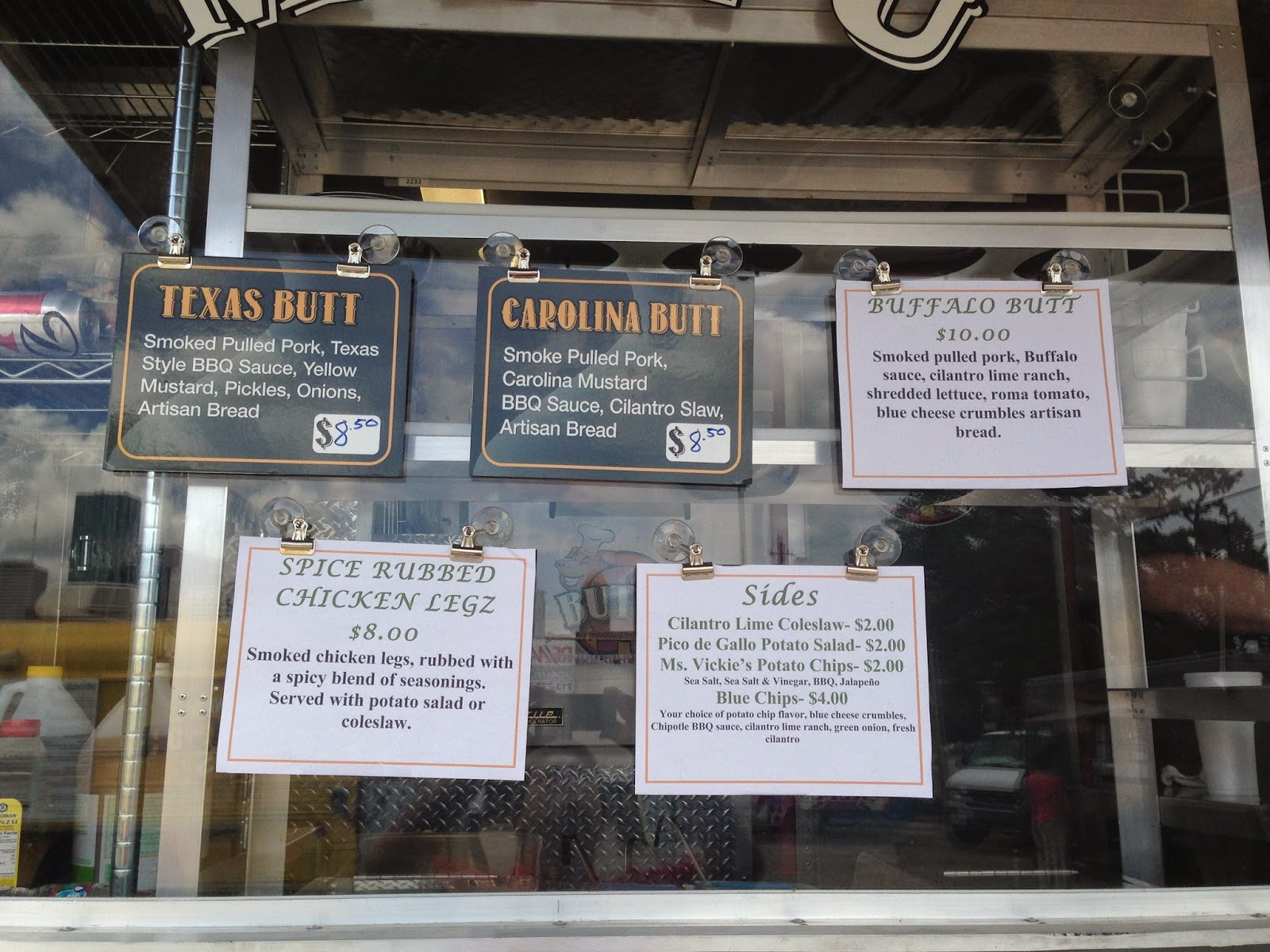 Buttz Food Truck - Menu