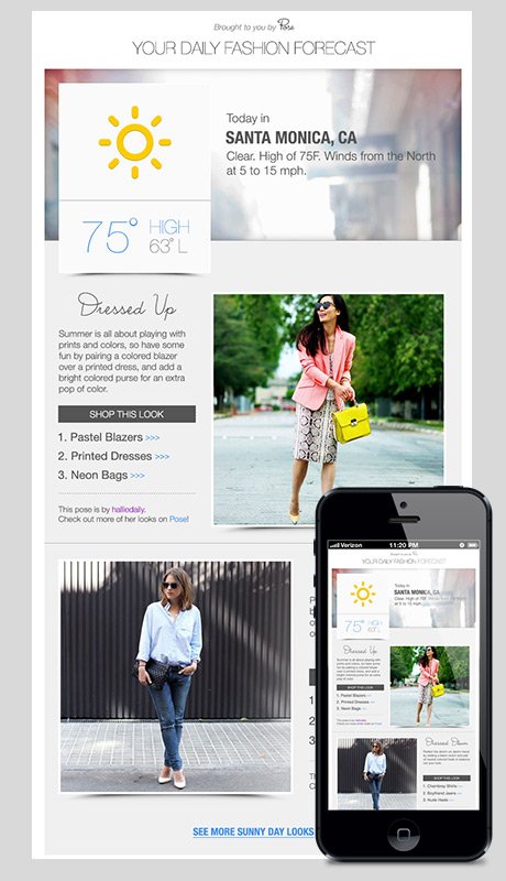 pose weather collection email template