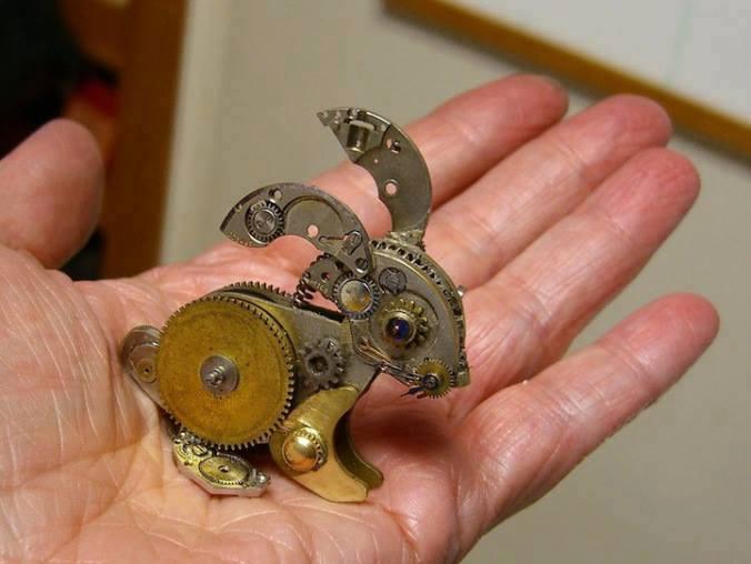 Jam Tangan Kuno Bentuk kelinci