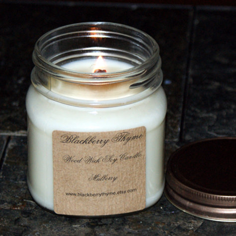 Artisan Handmade Mulberry Scented Soy Candle from Blackberry Thyme