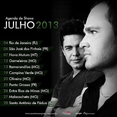 próximos shows Zezé di Camargo e Luciano 2013