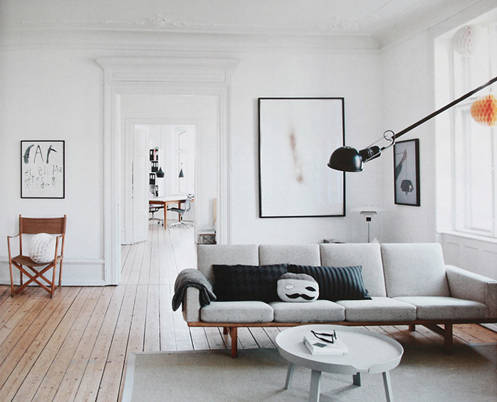 Beautiful danish apartment for Clean modern living room