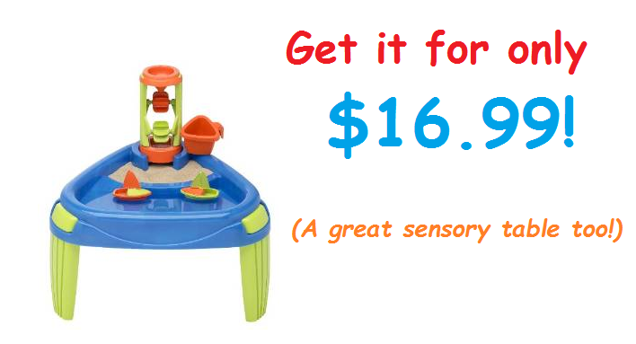 Get the American Plastic Toy Water Wheel Play Table for $16.99!! (LOWEST PRICE EVER!)