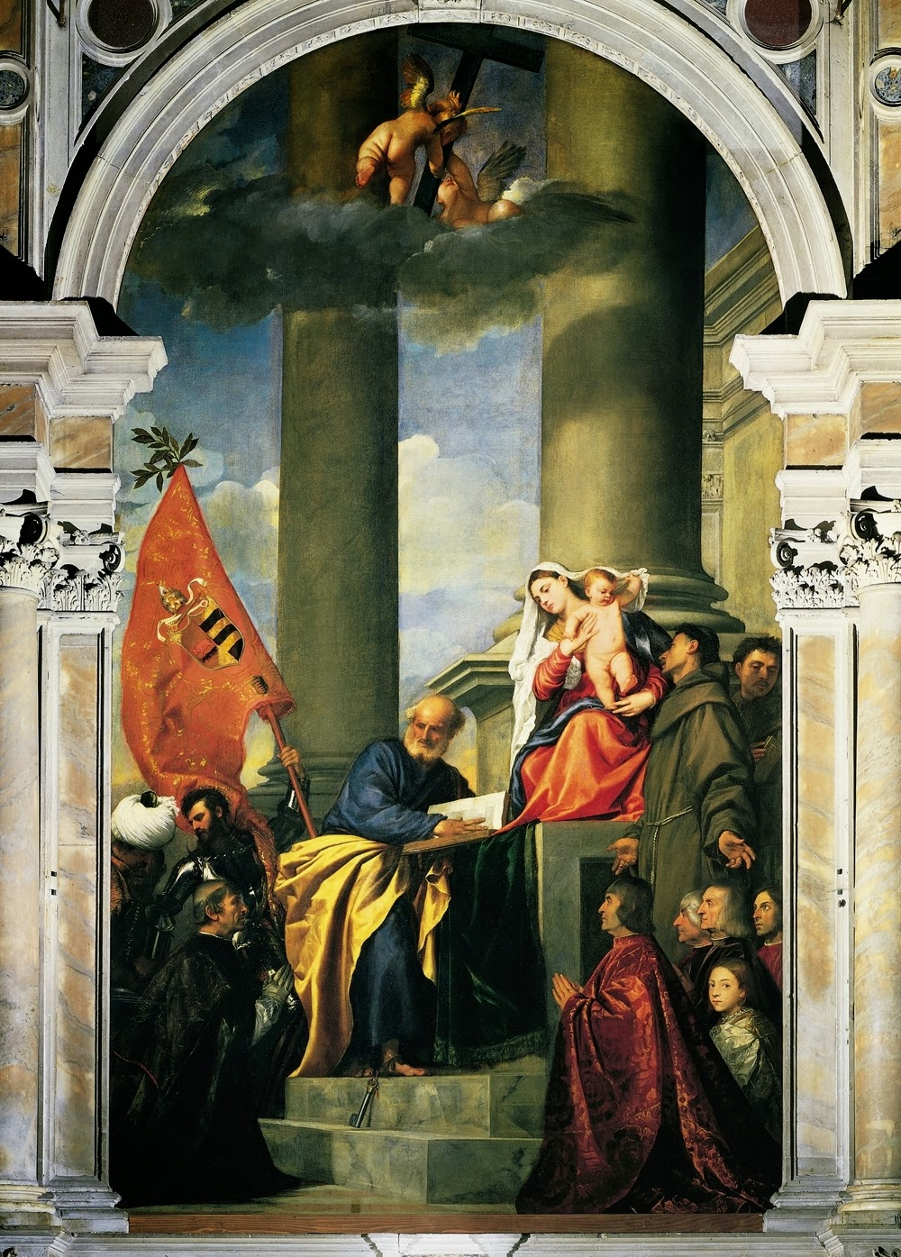 "Picture of ""Pesaro Madonna"" by Titian,1526"