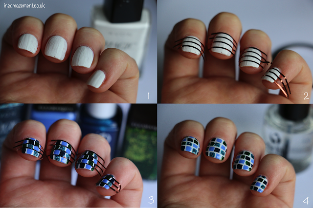 Tile Nail Art Tutorial