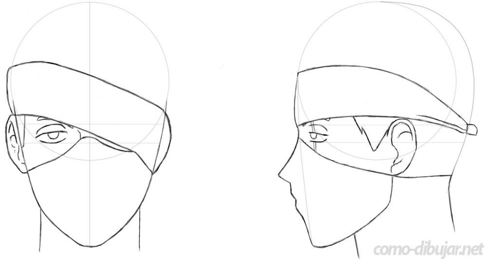 Aprende a cómo dibujar a Kakashi Hatake