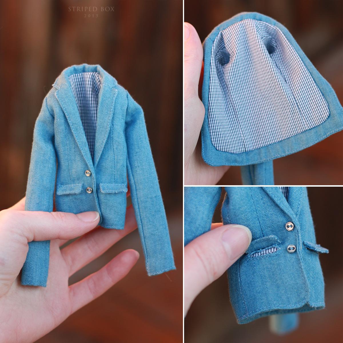 пиджак для куклы