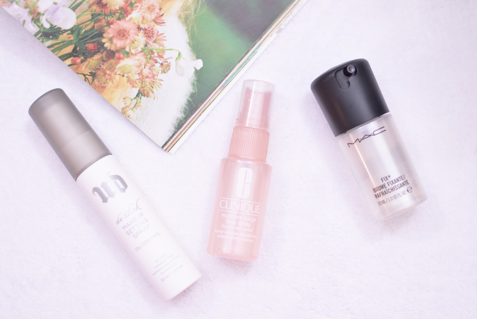 A Beauty Moment: MAKEUP SETTING SPRAYS | URBAN DECAY, MAC, & CLINIQUE