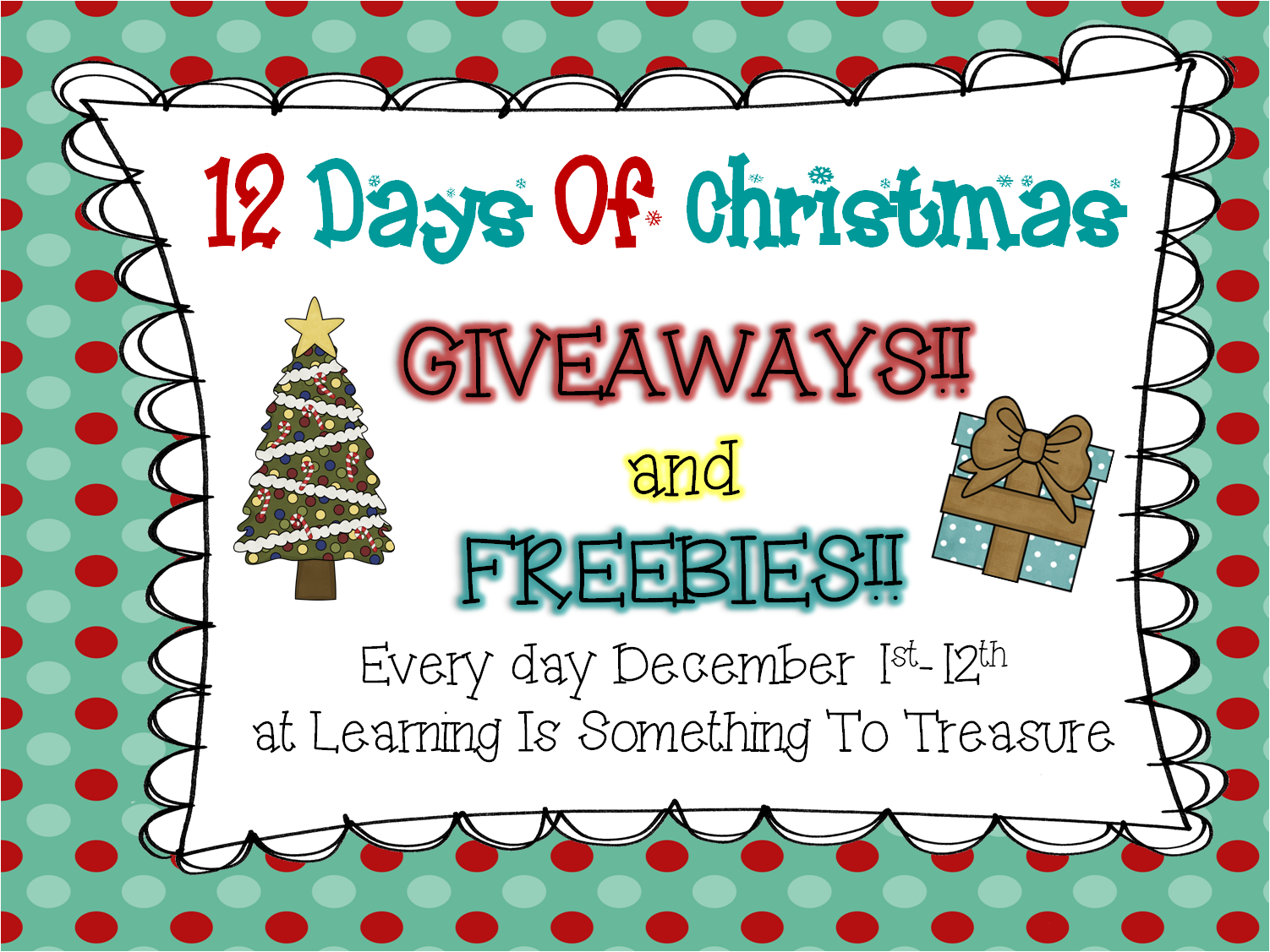 Learning is something to treasure 12 days of christmas for What is open on christmas day near me