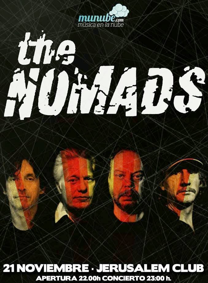 THE NOMADS - CONCIERTO VALENCIA JERUSALEM CLUB 22-11-14