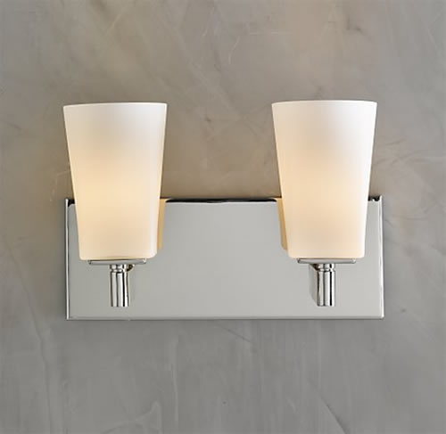 Popular Lighting 6162NI Structures WallMount 2Light Halogen Bath Light