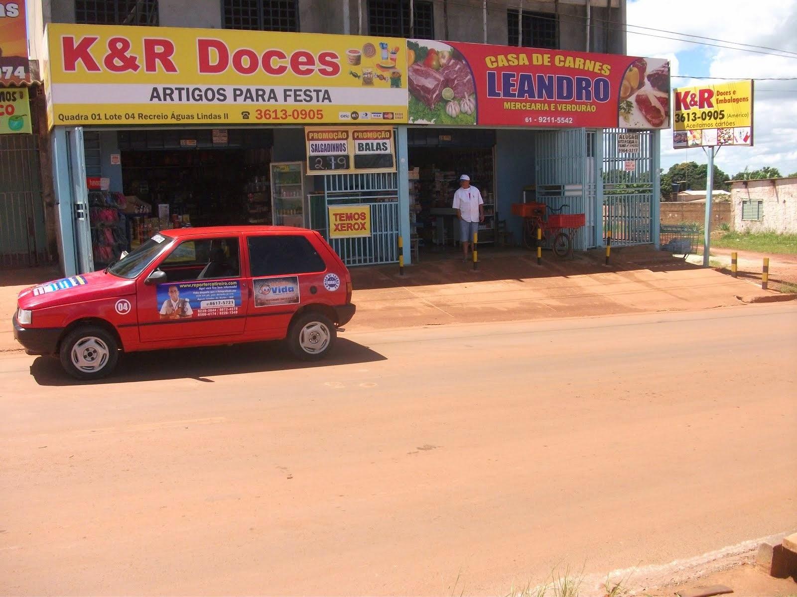 Administração do casal Americo e  Dona Clara K & R Doces