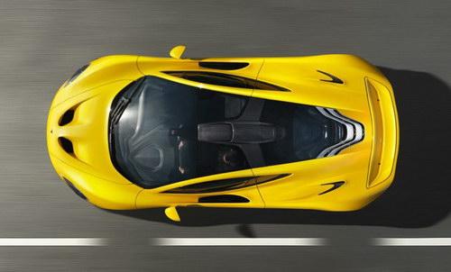 McLaren P1 tampak atas