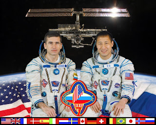 International Space Station Expedition 7 crew Malenchenko and Ed Lu