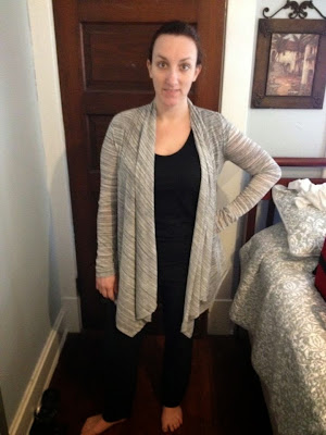 Light Gray Sweater & Emer Brocade Print High Waisted Cropped Pant- from StitchFix