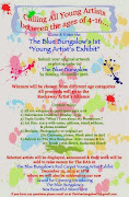 "The Blue Bungalow's 1st ""Young Artist Exhibit"""