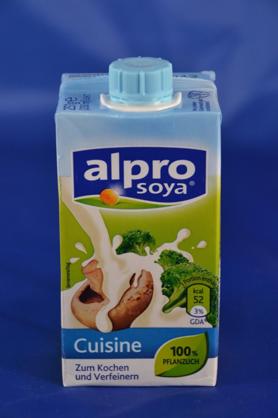 Engel testen alpro soya cuisine for Alpro soja cuisine