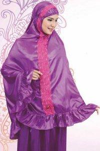 Mukena Dewasa Tatuis Aura 012 - Ungu (Toko Jilbab dan Busana Muslimah Terbaru)