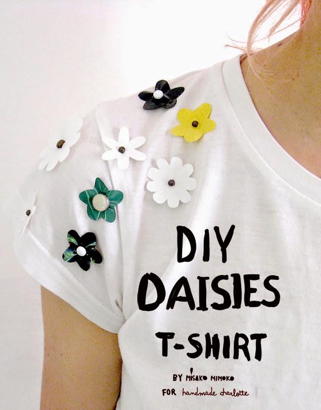 http://www.handmadecharlotte.com/diy-plastic-daisies-t-shirt/